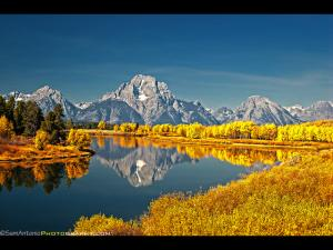 Reflecting on the Fall Colors at Oxbow Bend